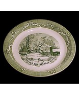 "Currier & Ives Green 10"" Pie Plate Royal China ... - $12.95"