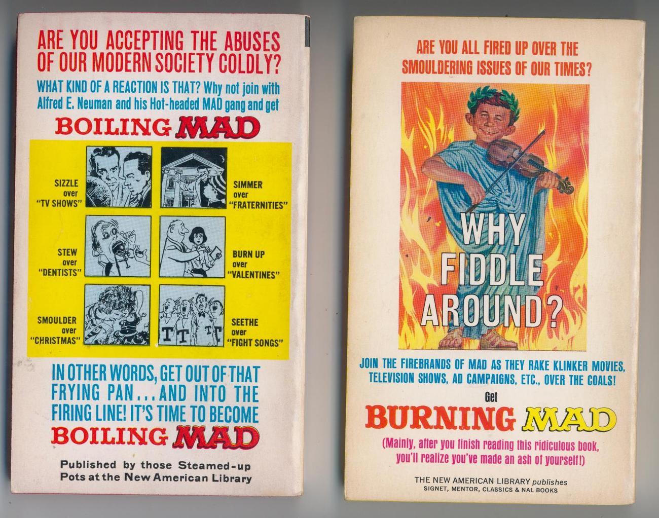 BURNING MAD/BOILING MAD  60s 1sts  HOT (stupid) STUFF!!!