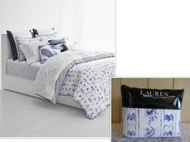 $300.00 Lauren Ralph Lauren Nora 3-Pc. Full/Queen Duvet Cover Set,  Blue, U - $84.15