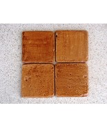 12- 4x4 RUSTIC STONE MOLDS MAKE WALL COUNTER FLOOR TILE - $24.98