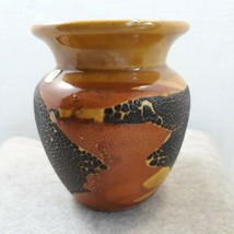 Vintage Royal Haeger Orange Peel Vase  Lava Glaze Signed and Decal - $45.54