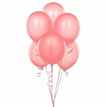 "72 Latex Balloons 12"" With Clips and Curling Ribbon-Coral - $16.78"