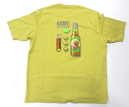 """Tommy Bahama Relax """"Game Opener"""" Mustard Graphic T-Shirt Adult Men's Size Large - $32.62"""
