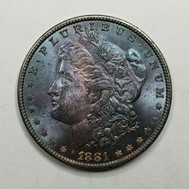 1881 Toned MORGAN SILVER $1 DOLLAR Coin Lot# A 169