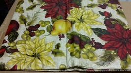 "Superior Tablecloth Vinyl Flannel Back, 52"" X 90"" Oblong, FRUITS & FLOWERS - $15.83"