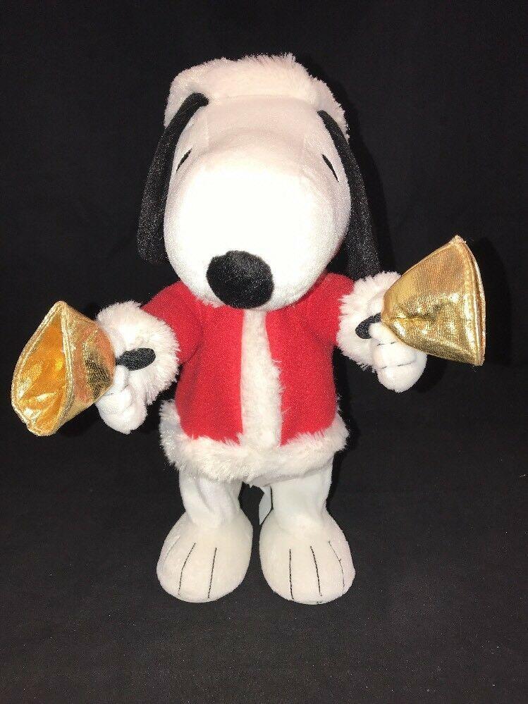 Hallmark Techno Plush Bell Ringer Snoopy Peanuts Gang #LPR2335 Christmas Music