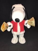 Hallmark Techno Plush Bell Ringer Snoopy Peanuts Gang #LPR2335 Christmas... - $12.88