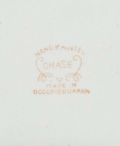 Vintage Chase Porcelaine Plaque Mural Peint Main Japon Occupé French Bisque image 5