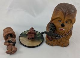 Star Wars Chewbacca Figure Lot Tomy Lego Bobblehead - $18.07