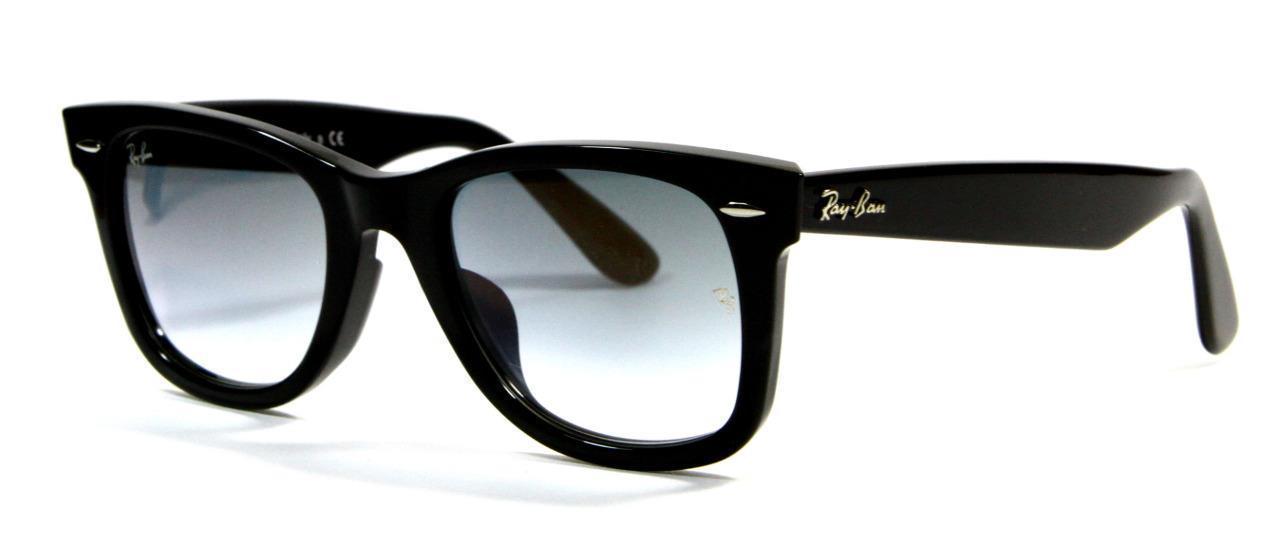 Ray Ban 2140-F 901/32 Wayfarer Classic Black Sunglasses 52mm New Genuine