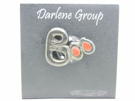 Vintage Halloween BOO Black Orange Red Enamel Darlene Group Pin Brooch - $13.86