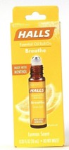 1 Ct Halls 0.33 Oz Breathe Lemon Scent Made With Menthol Essential Oil R... - $23.99