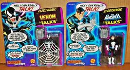 Vtg 1991 ToyBiz Marvel TALKING Action Figure Lot | The Punisher & Venom MOC - $29.77