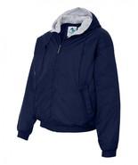 Heavy Duty Men's Hooded Fleece Lined Jacket in Navy in Sizes 2XL, 3XL an... - $59.78