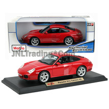 Maisto Special Edition 1:18 Scale Die Cast Red High Sport PORSCHE 911 CA... - $49.99