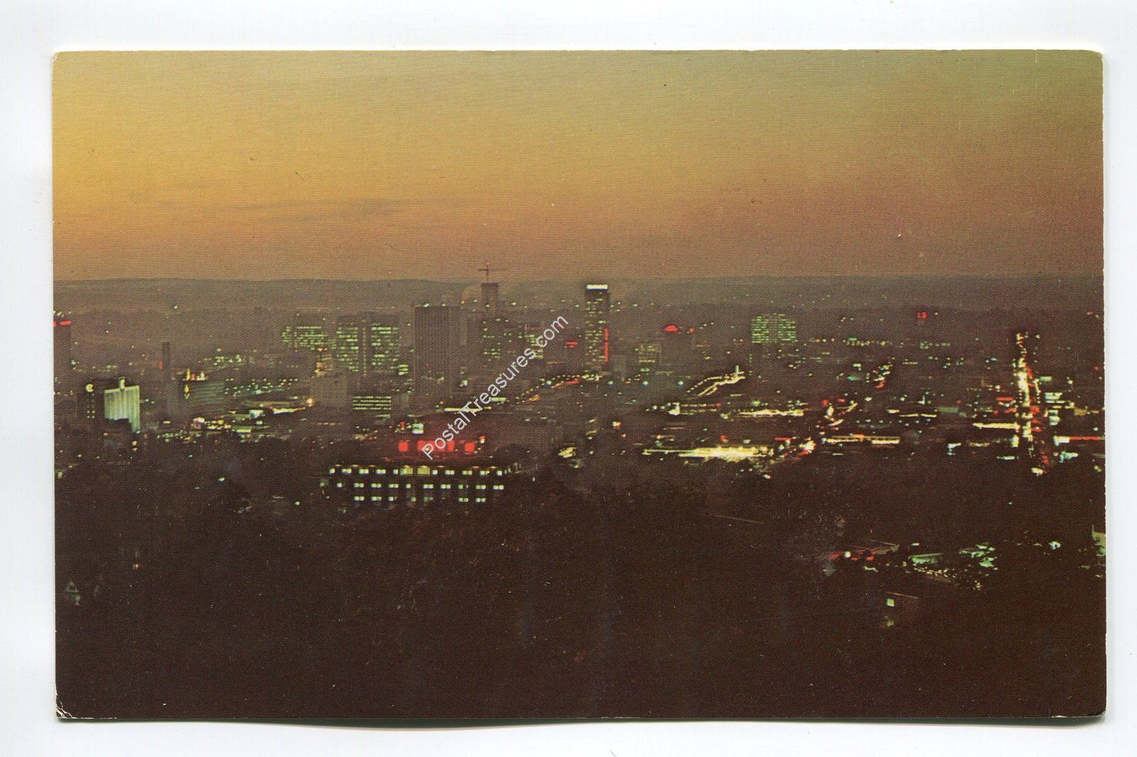 Primary image for A night view from Red Mountain showing the downtown area - Birmingham Alabama