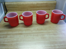 vintage red anchor hocking cups - $47.45