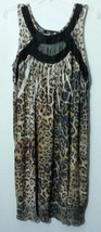 NEW STYLE & CO. LEOPARD PRINT ANIMAL PRINT DRESS SIZE EXTRA LARGE XL  - $18.50