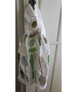 Set of Two Kitchen Towels with Crocheted Top - Silverware  - $8.00