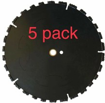 """5pk 10"""" Fire Rescue Root Cutter Carbide tipped Demolition Blade x .250  - $732.60"""