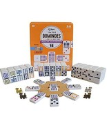 Regal Games Double 15 Mexican Train Dominoes with Wooden Hub and Metal T... - $31.07