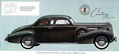 Primary image for 1937 Buick Sport Coupe - Promotional Advertising Poster