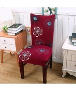 Stretch Chair Cover Seat Flower Printing Dining Chair Covers Protector S... - $6.99