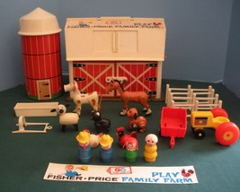 Vtg. Fisher Price Play Family #915 Farm w/ Hex Animals and Wood LP/VG++-EXC! (F) - $145.00