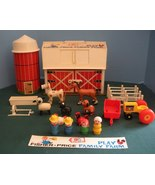 Vtg. Fisher Price Play Family #915 Farm w/ Hex Animals and Wood LP/VG++-... - $145.00