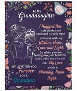 Personalized Custom Name Message To My Granddaughter From Grandma Gift B... - $49.84+