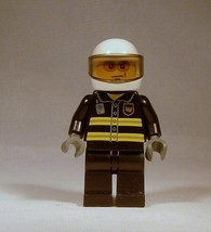 Genuine LEGO City Fire Fighter Helicopter Fireman 7238 Minifigure Reflec... - $6.51