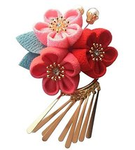 Handmade Japanese Style Exquisite Kimono Flower Hair Clip Flower [T] - $15.81