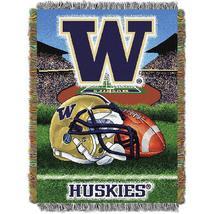 "OFFICIAL Collegiate ""Home Field Advantage"" Washington Woven Tapestry Thr... - $720,66 MXN"