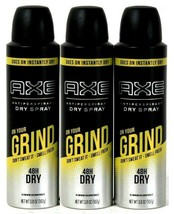 3 Axe On Your Grind Don't Sweat Smell Fresh 48h Dry Spray Antiperspirant... - $23.90