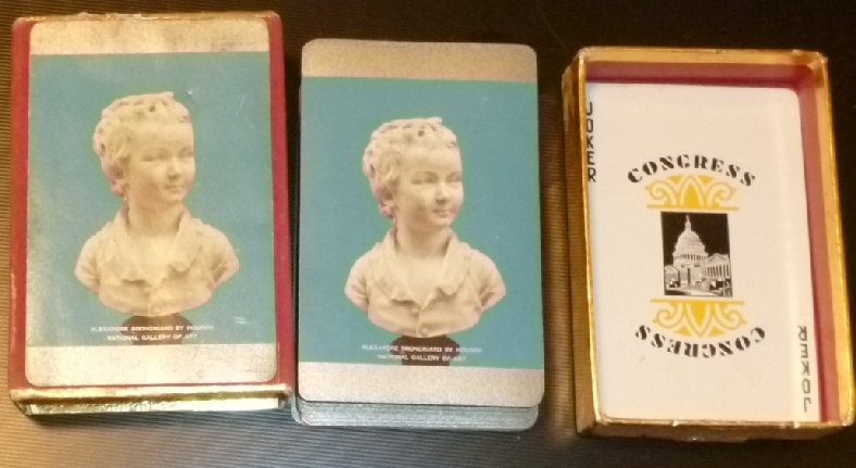 ALEXANDRE BRONGNIART by HOUDON National Gallery of Art deck of playing cards