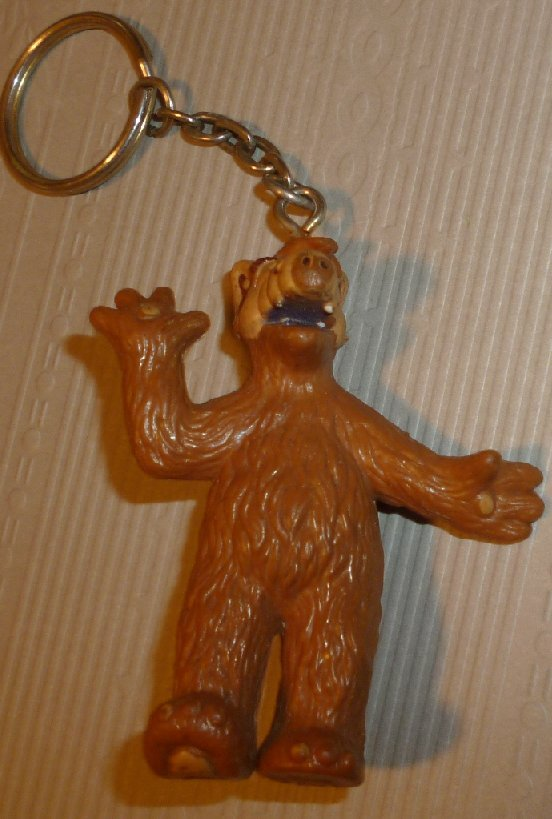 "ALF PVC Figure keyring key Chain 2.5"", 1988 Russ Alien Prod"