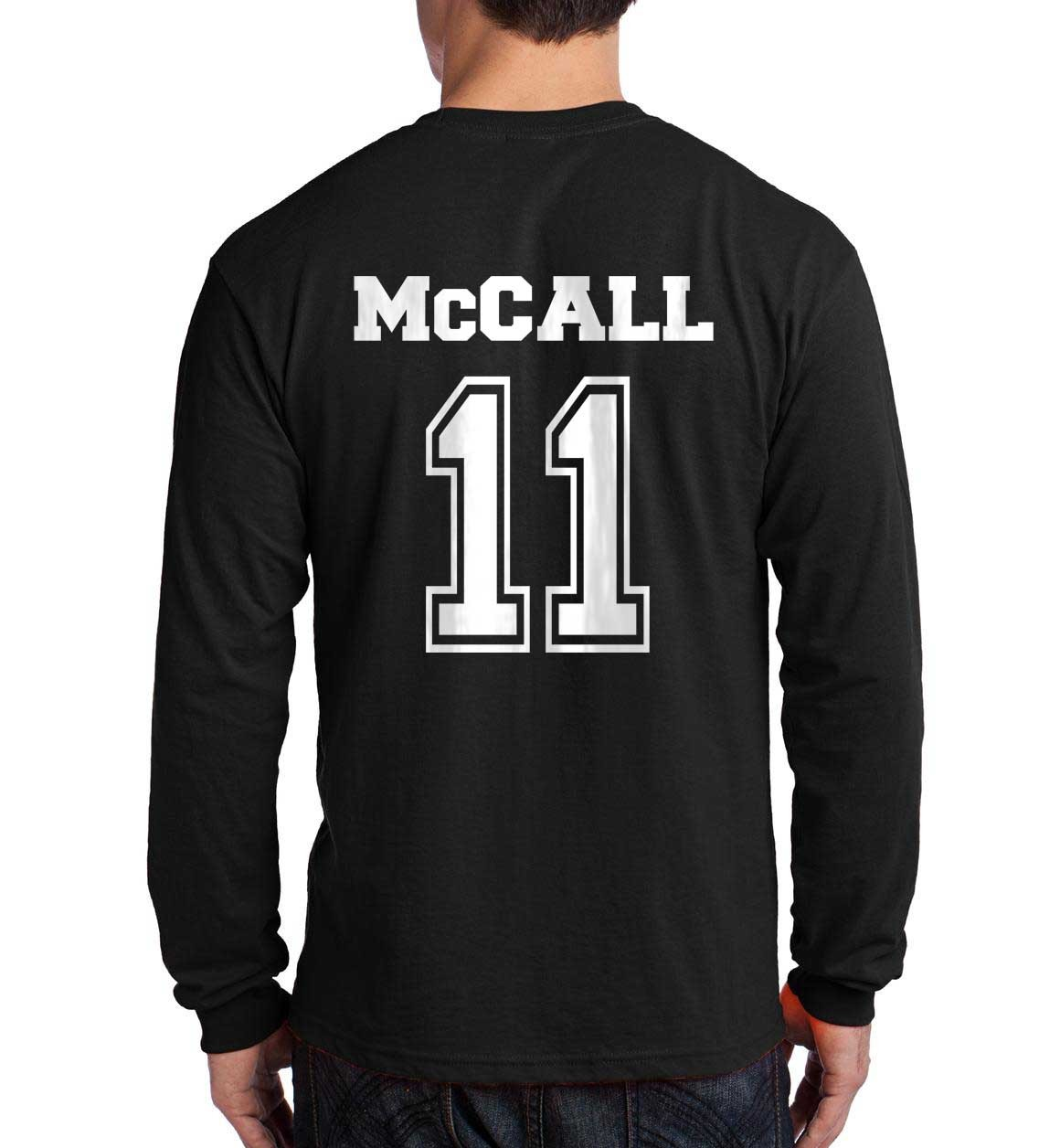 MCCALL 11 SCOTT  Beacon Hills Lacrosse BACK ONLY Longsleeve Men BLACK - $21.00