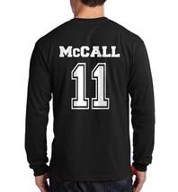 Mccall 11 Scott  Beacon Hills Lacrosse Back Only Longsleeve Men Black - $21.00+