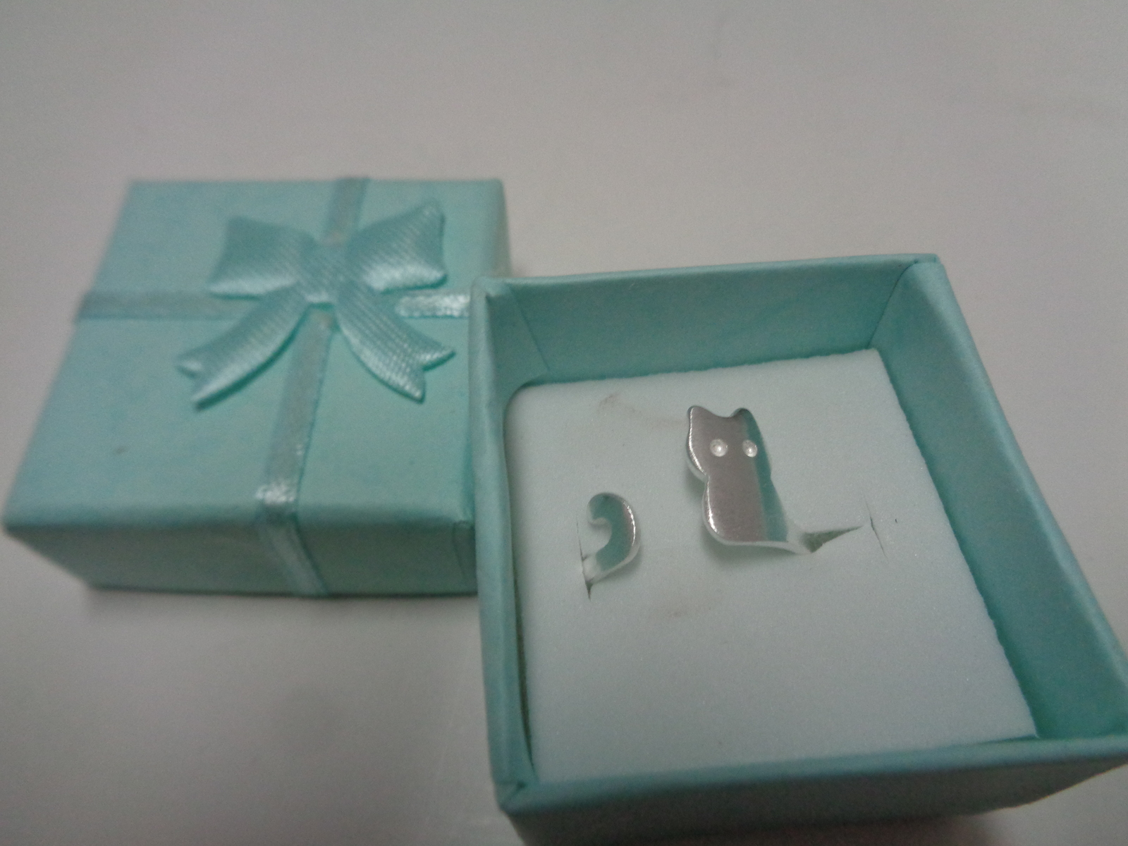 Silver Sterling 925 Kitty Cat Ring NIB Size 6