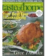 Taste Of Home Magazine(October & November 2010) Your Best Ever Thanksgiv... - $5.99