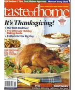 Taste Of Home Magazine (November 2011) It's Thanksgiving;Holiday Baking ... - $5.99