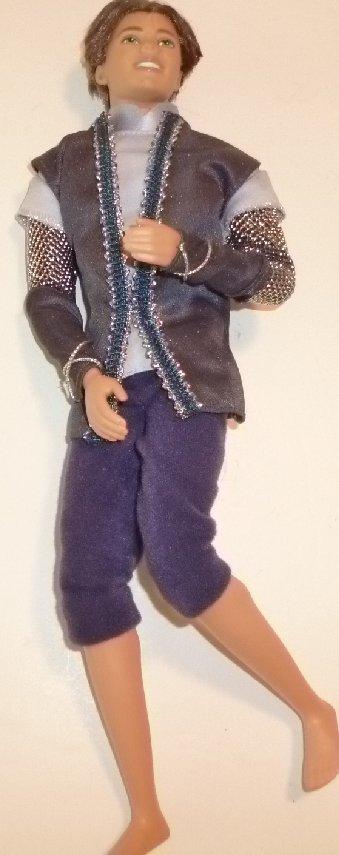 Barbie KEN Doll as PRINCE jointed knees elbows wearing shirt & knicker pants