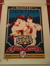 New York Yankees 2009 Champions 27th Ring Silkscreen Print #d 400 Chris Speakman - $46.74