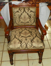 Solid Oak Carved Armchair / Parlor Chair - $399.00