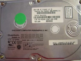 20GB 3.5in IDE LC20A011 40pin Hard Drive Quantum Tested Good Our Drives Work - $16.61
