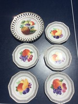 Lot of Antique Vintage Schumann Hand Painted Plates Bavaria Germany Fruits - $98.99