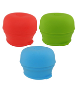 3-Pack Universal Silicone Sippy Cup Straw Lids Mason Jar Kids Cup Lid Drink - $10.99