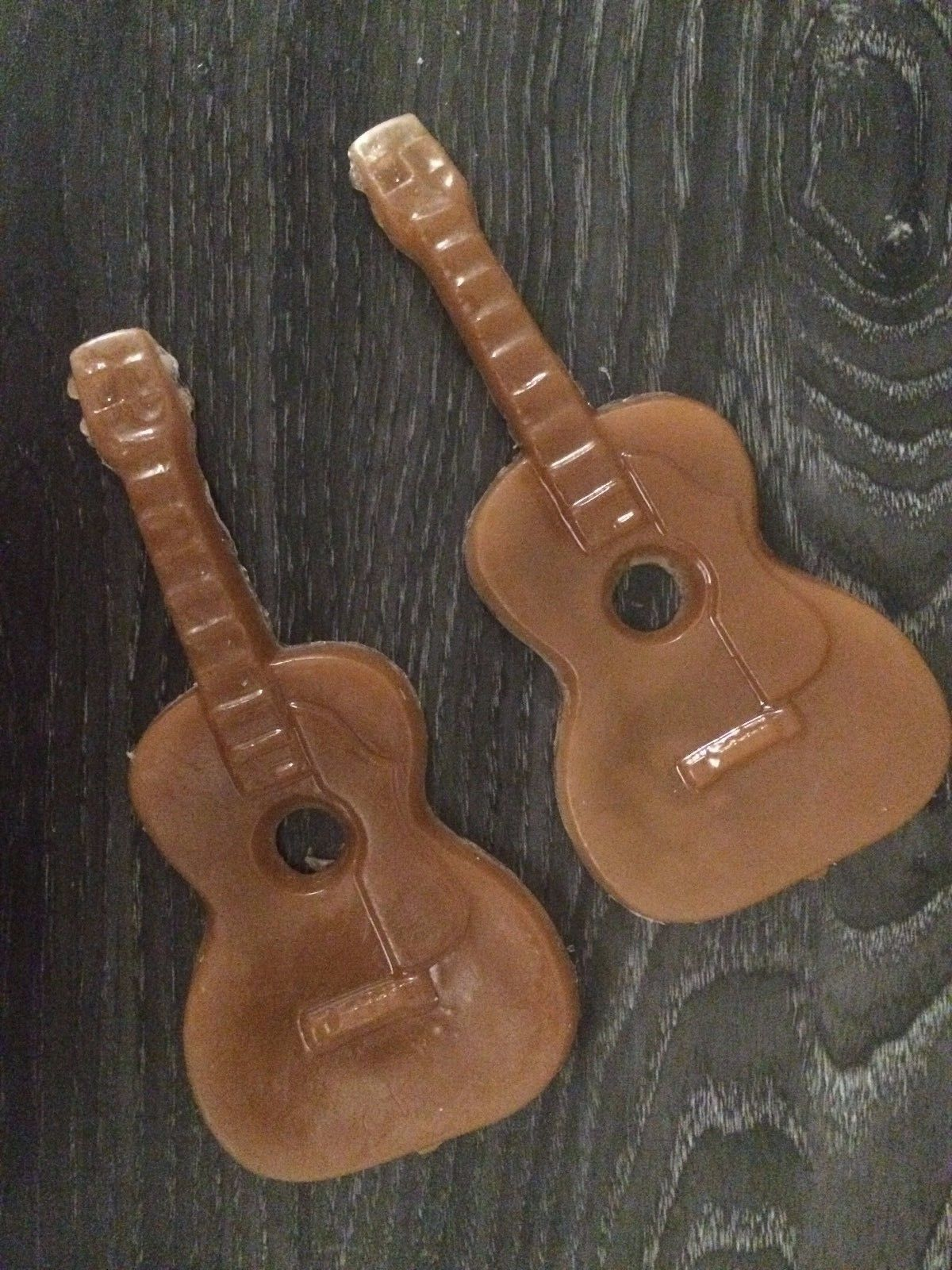 Guitar soap 2 pcs set in clear gift box  By Joanndles