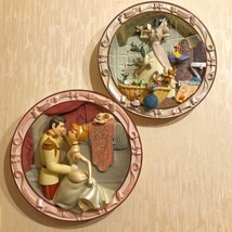 Walt Disney Classic Cinderella 3D picture plate 2 set Enter serial number - $349.47