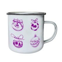 Happy Merry Christmas Xmas Funny Novelty New Retro,Tin, Enamel 10oz Mug l72e - $13.13